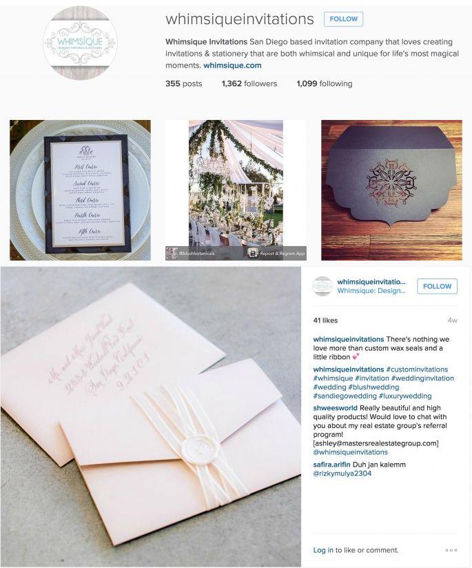 Whimsique Invitations Instagram Whimsique Invitations
