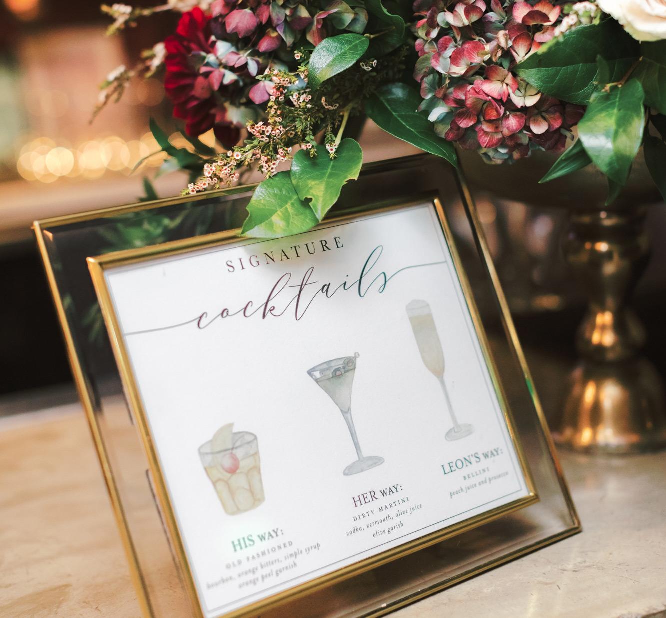 Wedding Signature Drinks.Cute Signature Cocktail Names Whimsique Invitations